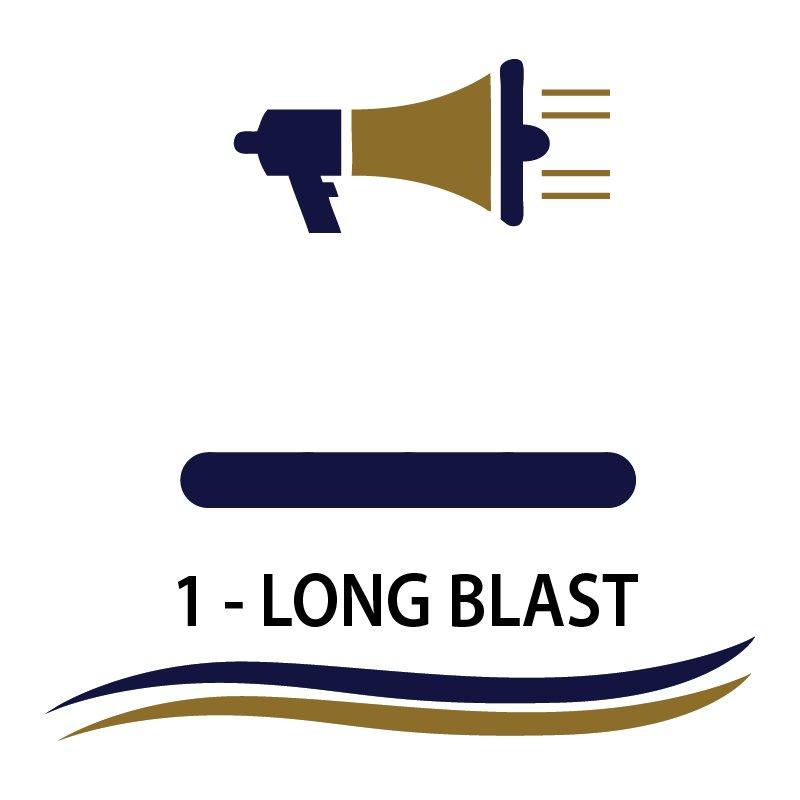 one prolonged blast