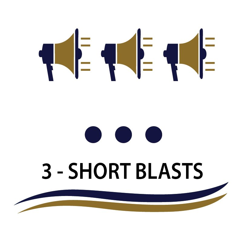 3 short blasts